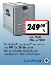 Thermobox Frontlader 55 Liter Eco