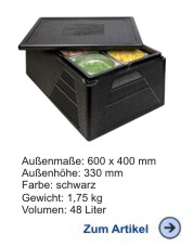 Thermobox Gastronorm 1/1 Premium Plus schwarz