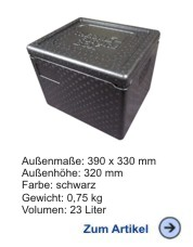 Thermobox Gastronorm 1/2 GN 257mm schwarz