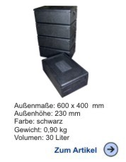 Thermobox Gastronorm 1/1 167mm schwarz Sparpack