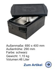 Thermobox Gastronorm 1/1 Deluxe 215mm Eco