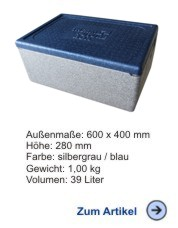 Thermobox Gastronorm 1/1 217mm blau-grau