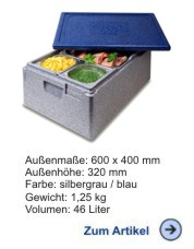 Thermobox Gastronorm 1/1 257mm blau-grau