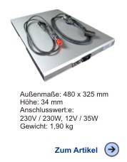 Thermobox-Heizung 1/1GN 230V und 12V