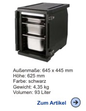 Thermobox Frontlader 93 Liter