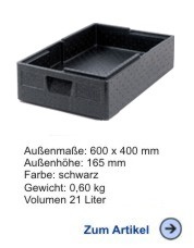 Thermobox Gastronorm Salto 1/1 120 mm schwarz