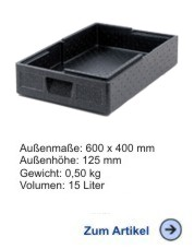 Thermobox Gastronorm Salto 80mm schwarz